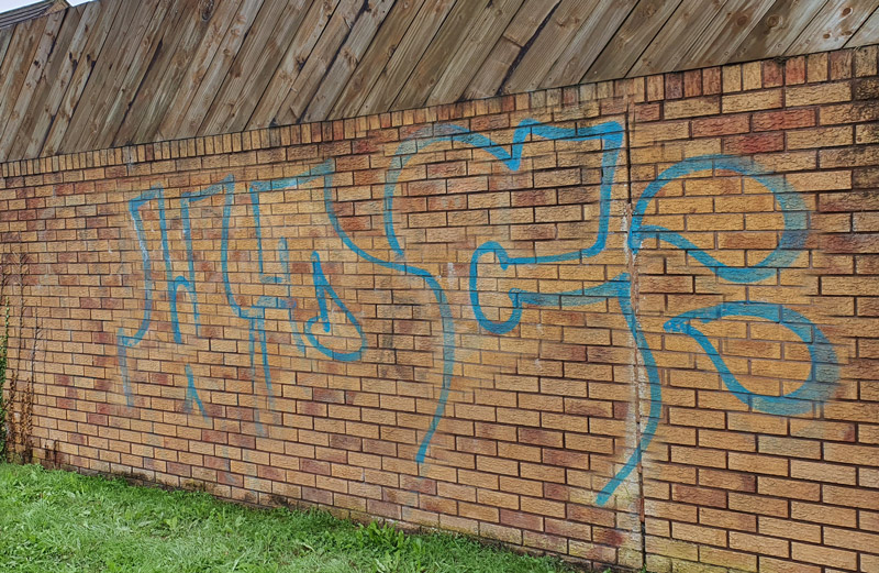 Before Removal and prevention of graffiti